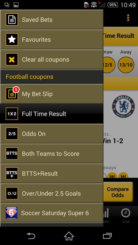 Football betting coupons
