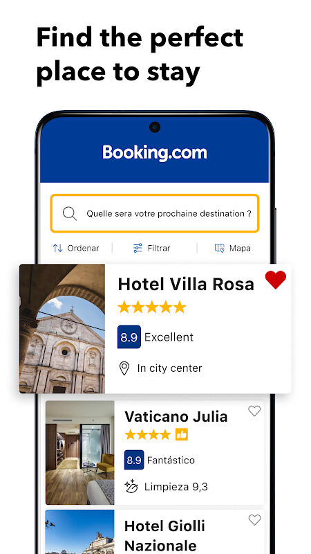 Hotels vacation rentals free android app for Tablet hotel booking