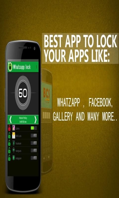 WhatsApp Lock /Lock For WhatsApp Free Samsung Galaxy Ace Plus App