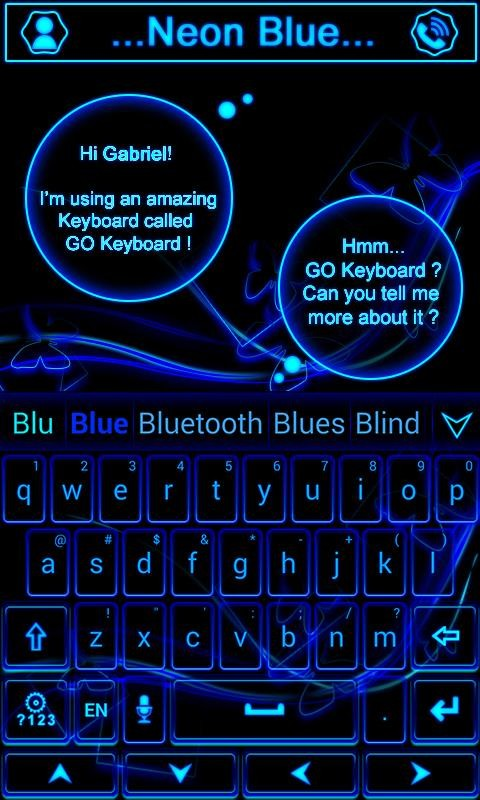 Neon Blue GO Keyboard Theme Free Android App download