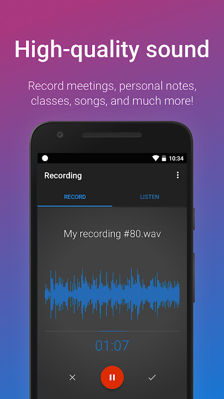 sound recorder for android free download