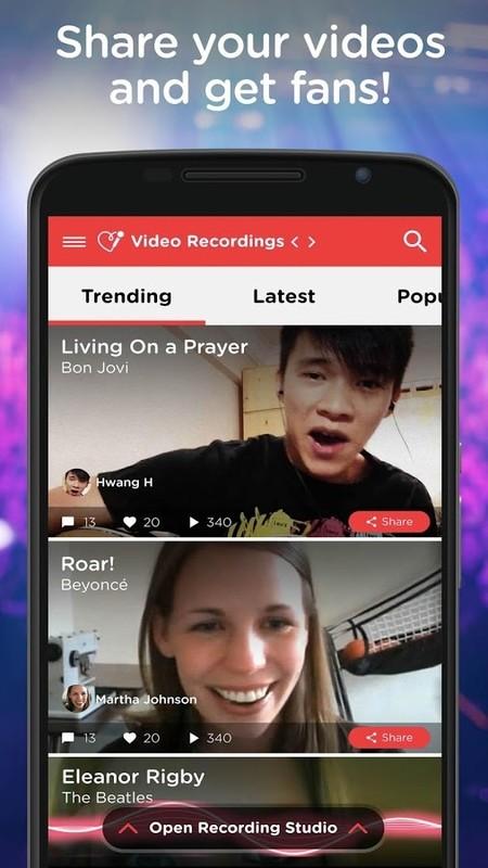 Red Karaoke Sing & Record Free HTC ChaCha App download - Download