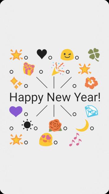 Happy New Year Emoji Art Free T-Mobile SpringBoard App download