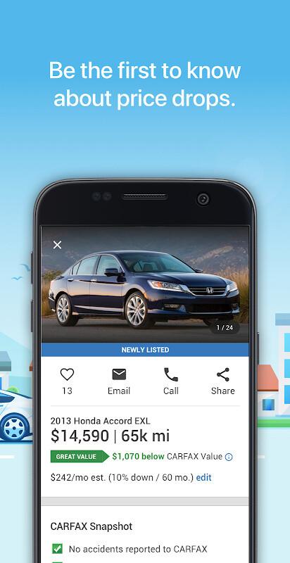 CARFAX Find Used Cars for Sale Free Motorola XOOM 2 Media Edition