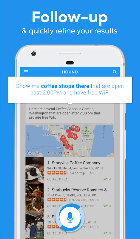 HOUND Voice Search & Mobile Assistant Free Android App