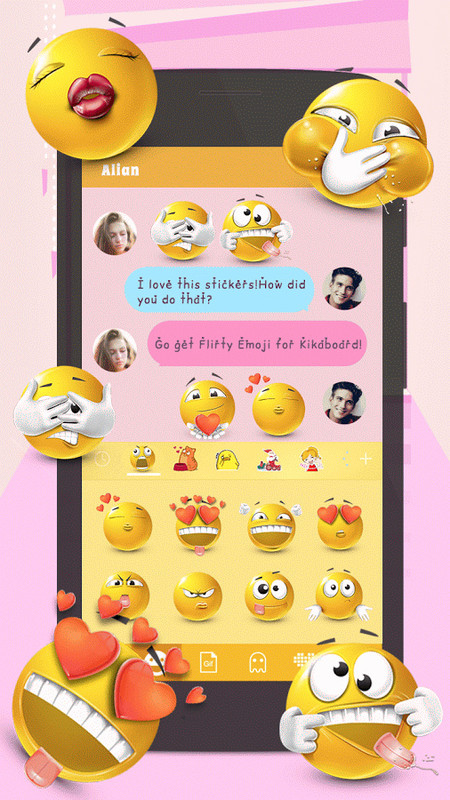emoji phone for android - stickers and gifs