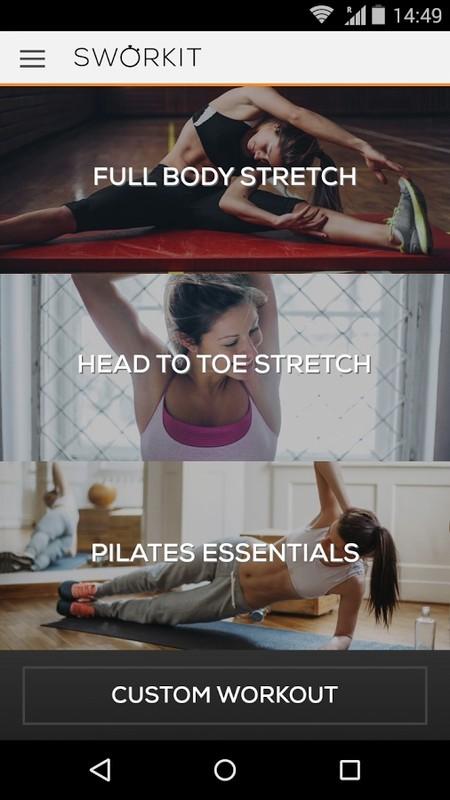 Stretching & Pilates Sworkit Free Samsung Galaxy Y TV App