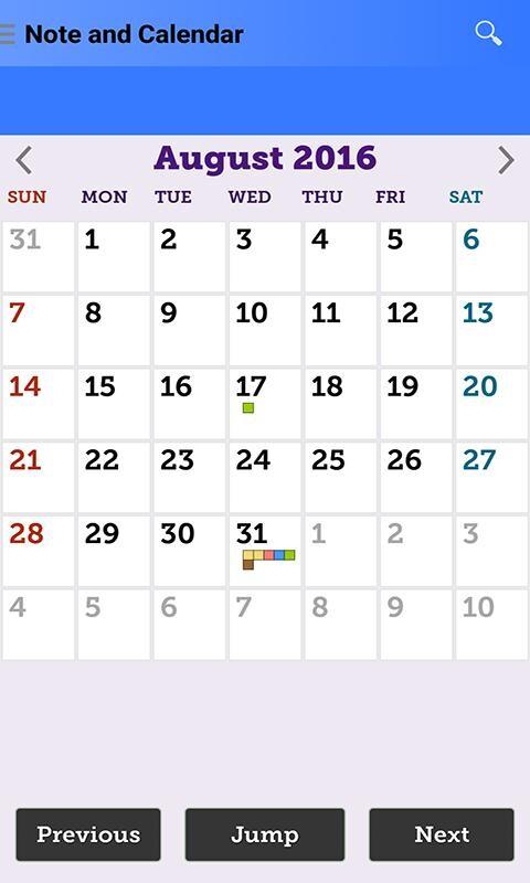 Note and Calendar Free Samsung Galaxy Y Duos App download