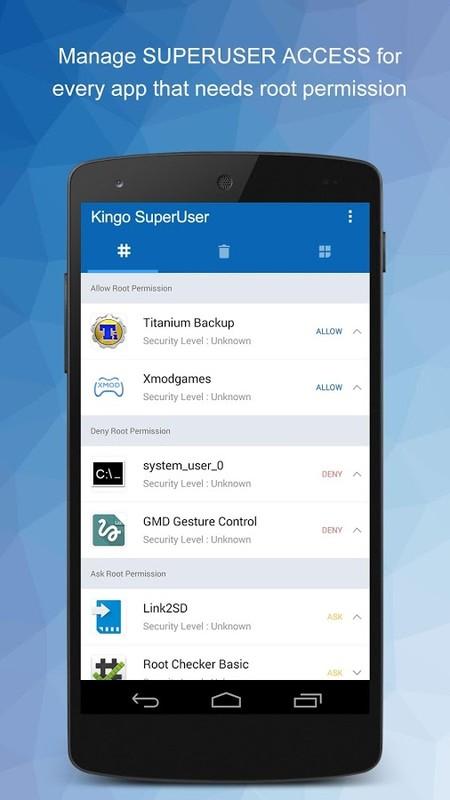 Kingo SuperUser [ROOT] Free Sony Ericsson Xperia X8 App