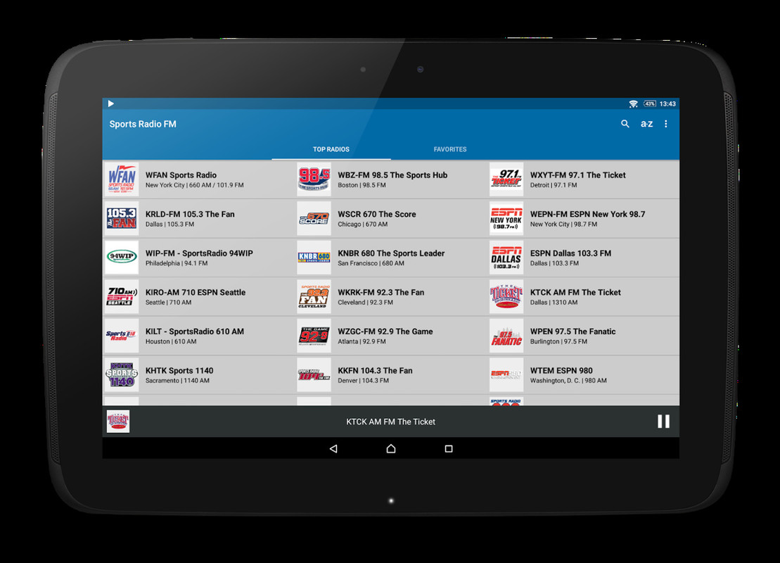 Sports Radio FM Free LG Prada 30 App Download