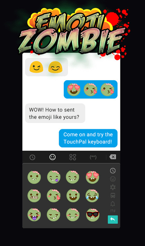 TouchPal Zombie Emoji Pack Free Android App download