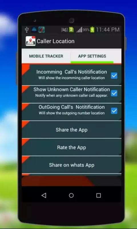 Caller ID - Mobile Tracker Free Sony Ericsson W8 App