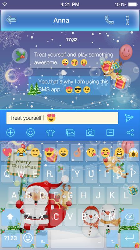 100 Pics Christmas Emoji.Merry Christmas Emoji Keyboard Free Android App Download