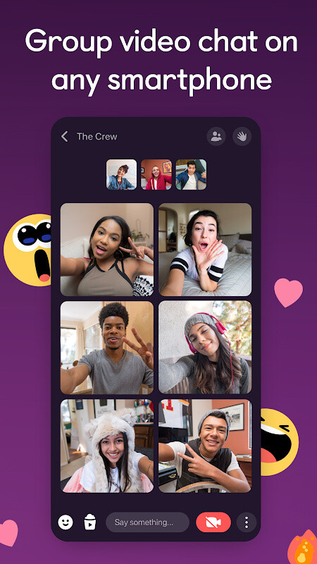 Airtime: Live Video Chat & Friend Group Hangout Free Android App