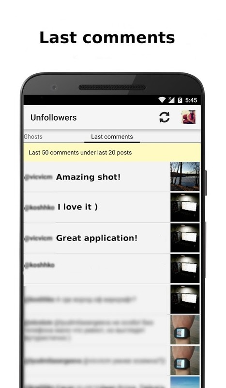 Unfollowers for Instagram Free Samsung Galaxy Y App download