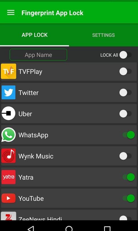 Fingerprint AppLock Free Samsung Galaxy Gio App download