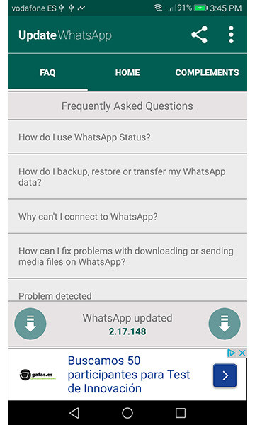 Update WhatsApp FAQ Free Android App download - Download the Free