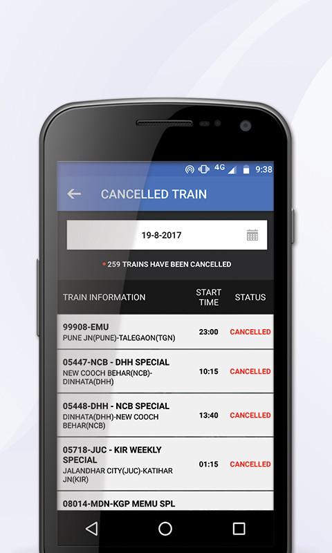 eRAILYATRA - PNR Status, Train Running Status Info Free