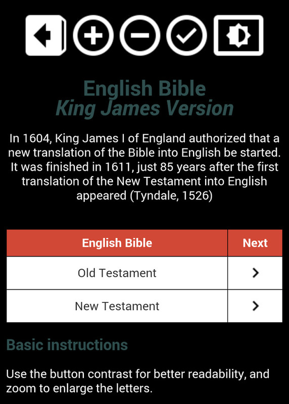 Holy Bible King James Version Free Android App download