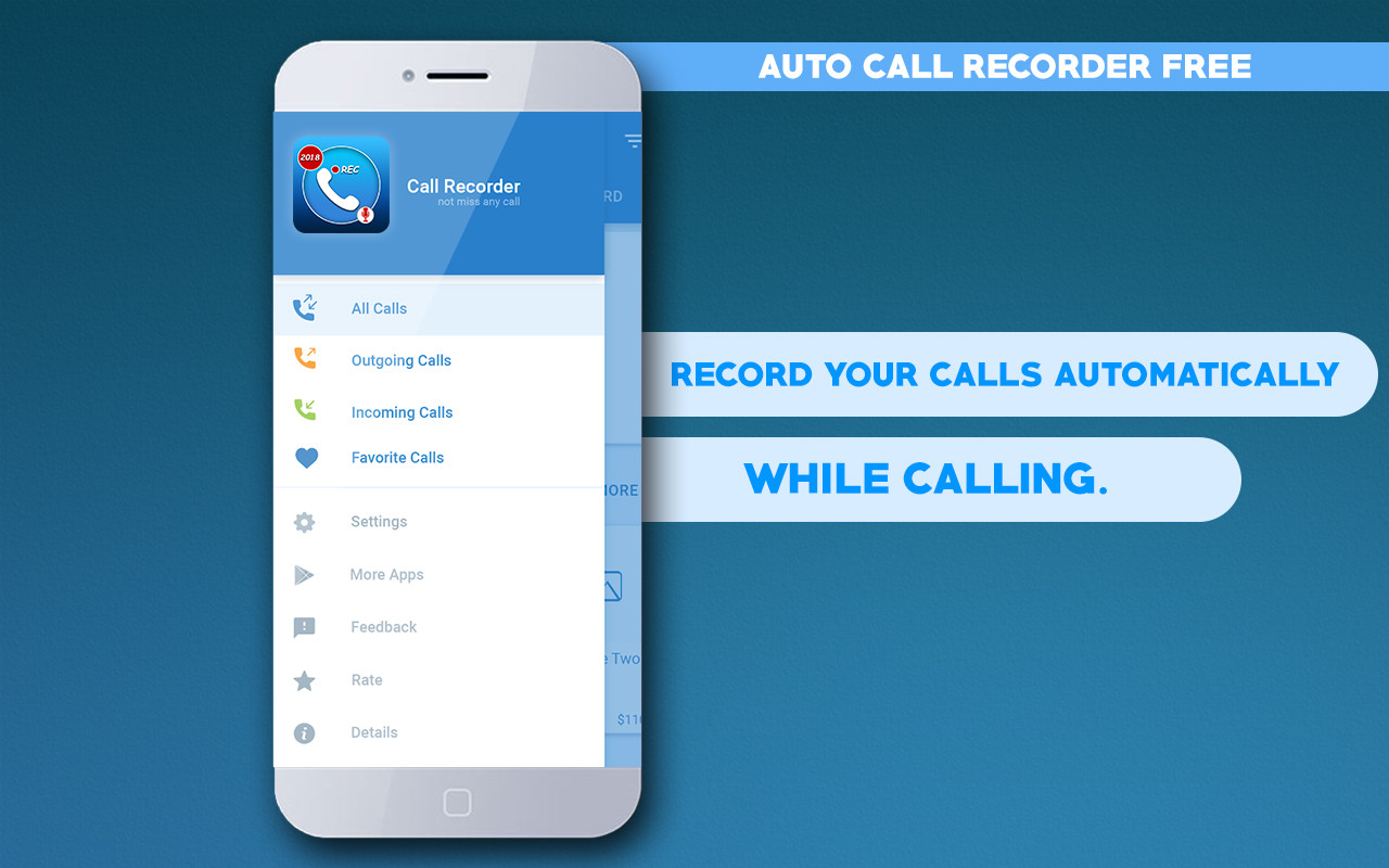 Hidden Auto Call Recorder 2018 Free Free Android App download