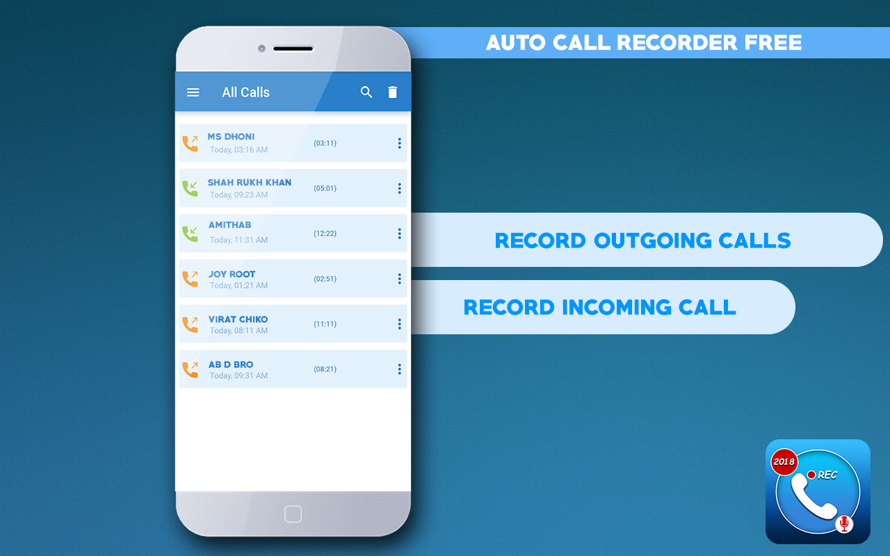 Hidden Auto Call Recorder 2018 Free Free Android App