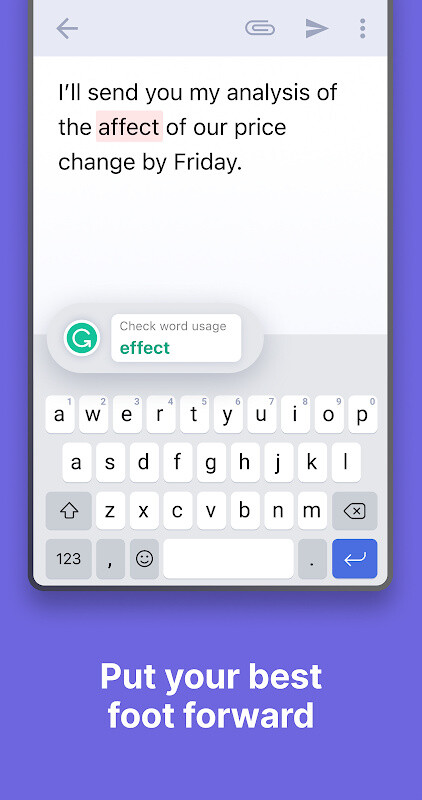 Grammarly Keyboard — Type with confidence Free Sony Ericsson Xperia