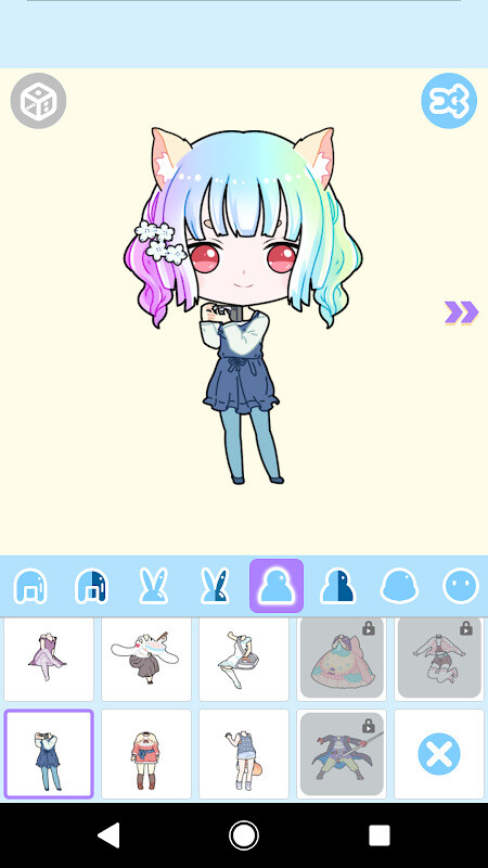 Cute Avatar Maker: Make Your Own Cute Avatar Free Android App