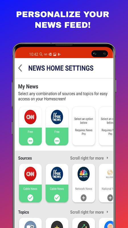 News Home - Full Screen News Widget and Launcher Free