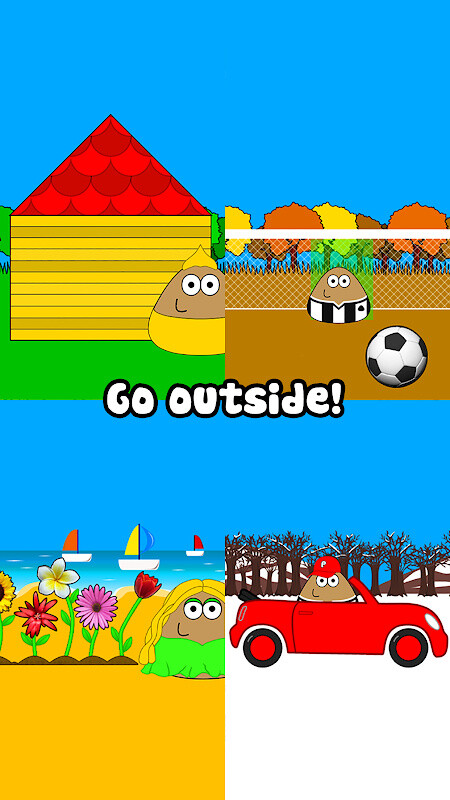 Pou is available in English, French, Spanish, Catalan, Portuguese