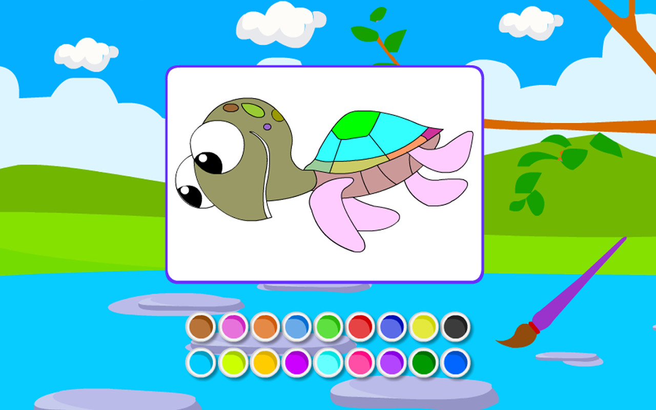 Coloring Happy Turtles Free Android Game Download