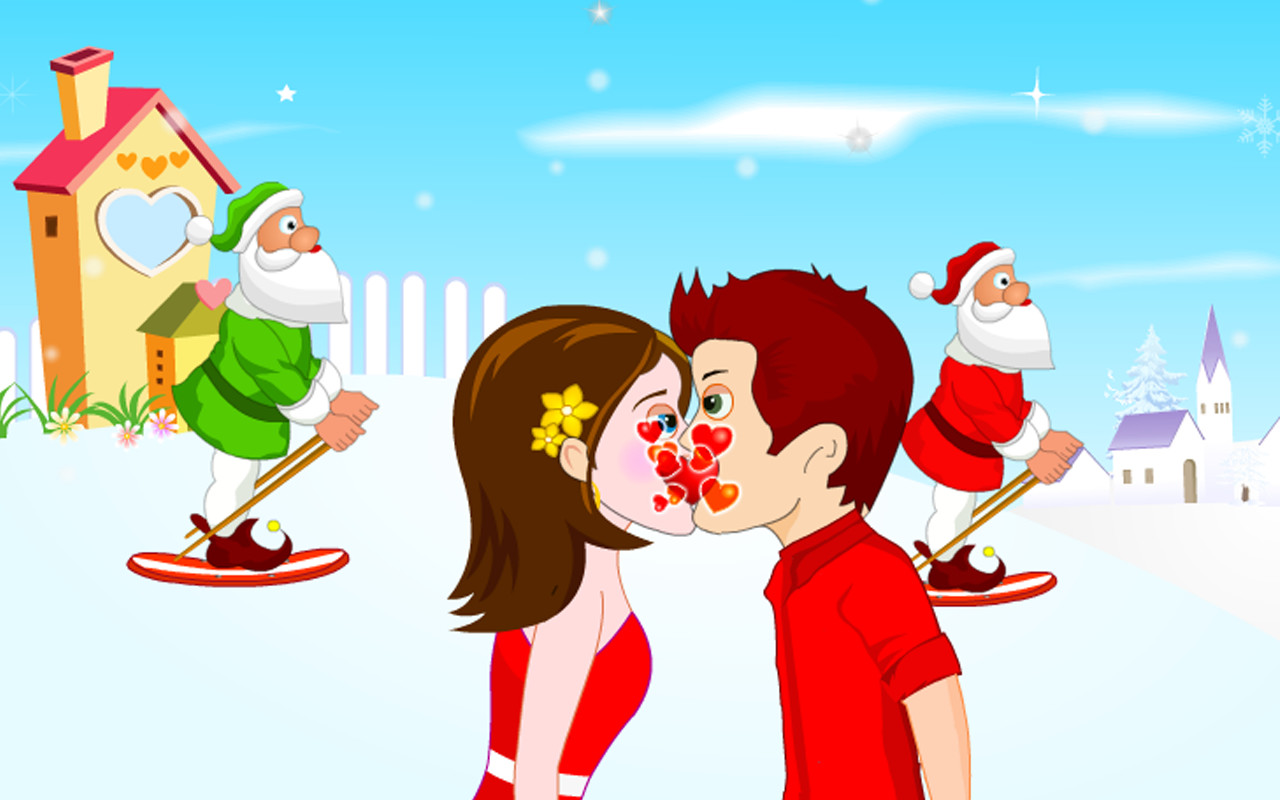 Merry Christmas Kiss Free Android Game download - Download ...
