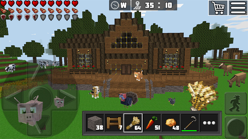 Worldcraft 3d blocks craft pe free android game download for Block craft play for free