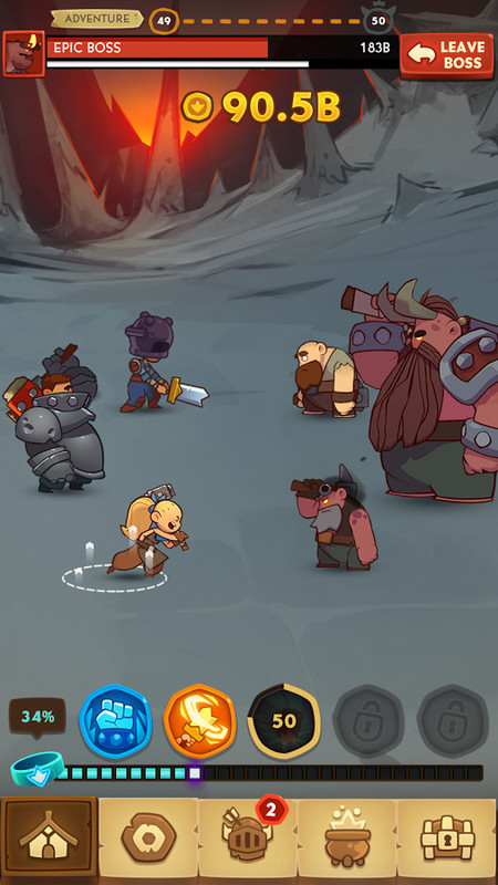 Almost a Hero - RPG Clicker Heroes Free Android Game download