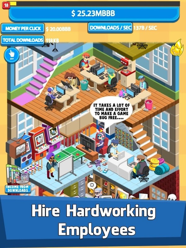 Video Game Tycoon - Idle Clicker & Tap Inc Game Free Android