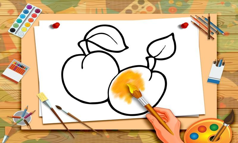 Fruits Coloring Kids Painting