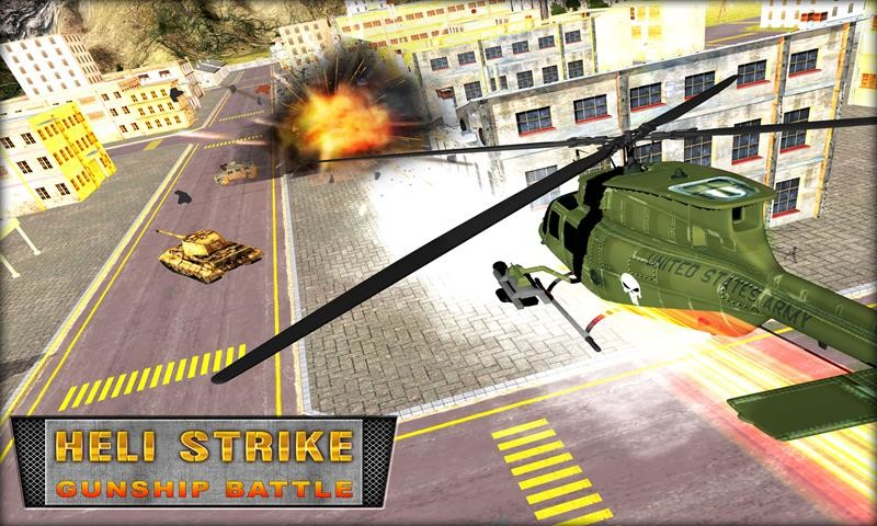 3d heli strike: advanced air combat java game for mobile. 3d.