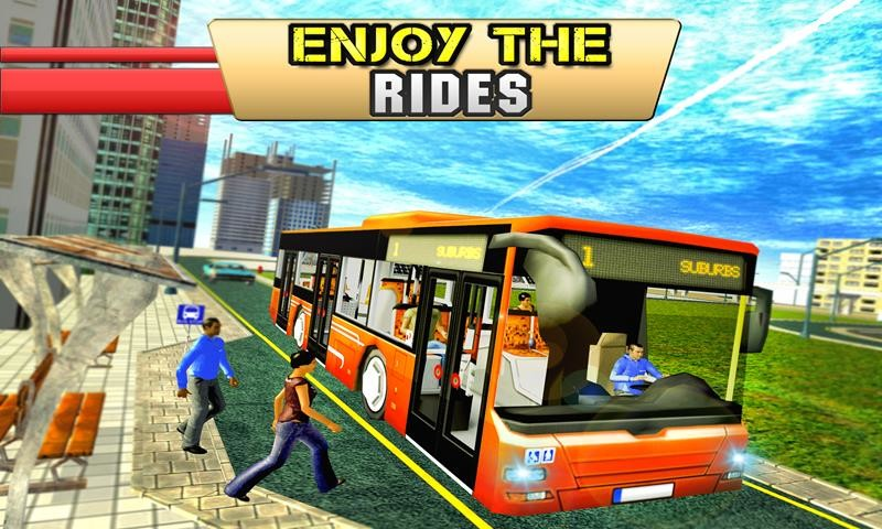 City Tour Bus Coach Driver 3D Free Android Game download - Download