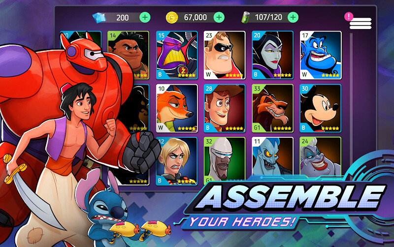 Disney Heroes: Battle Mode Free Samsung Galaxy Ace 2 Game