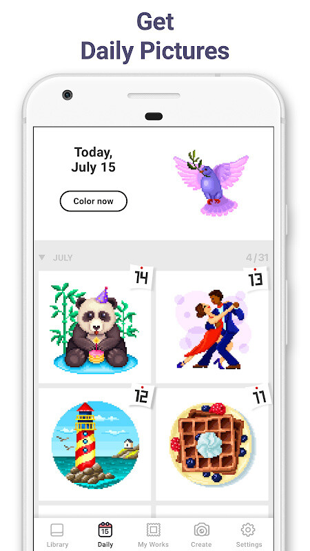 Pixel Art: Color by Number Free Android Game download - Download the
