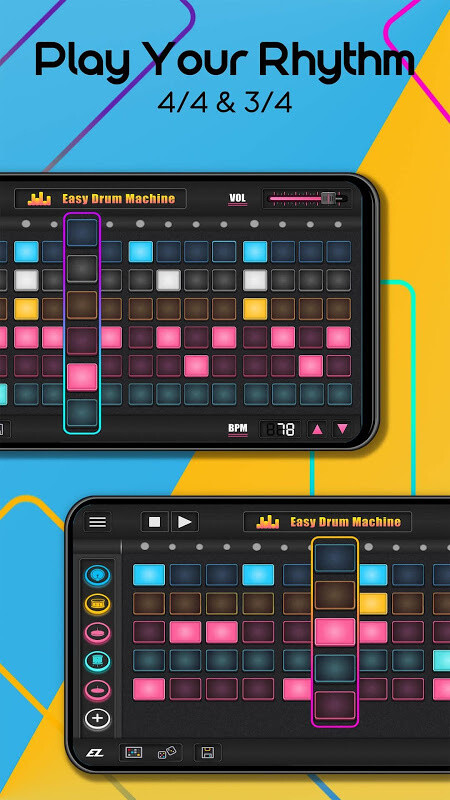 easy drum machine beat machine drum maker free android game download download the free. Black Bedroom Furniture Sets. Home Design Ideas
