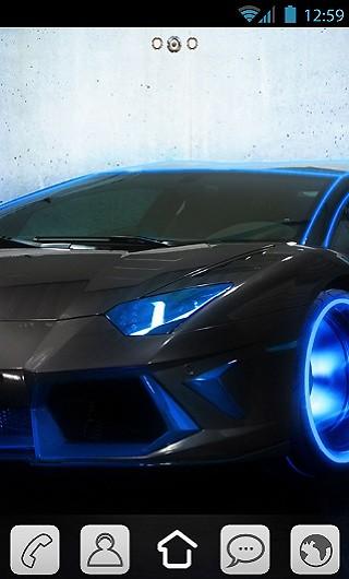 Black Neon Lamborghini Free Android Theme Download Download The