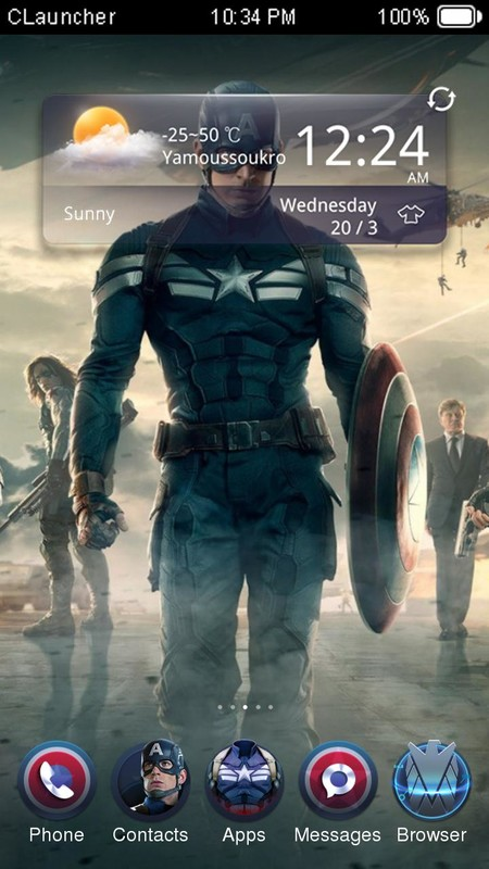 Captain America 2 Theme Free Android Theme download - Download the
