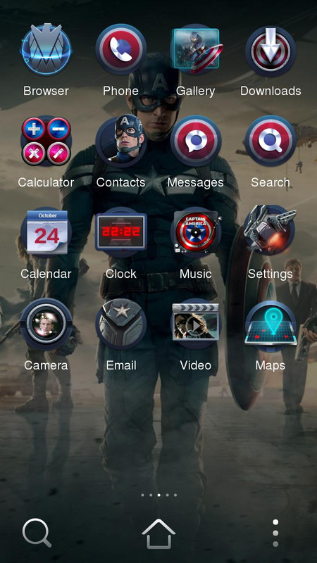 captain america 2 theme free android theme download download the free captain america 2 theme. Black Bedroom Furniture Sets. Home Design Ideas