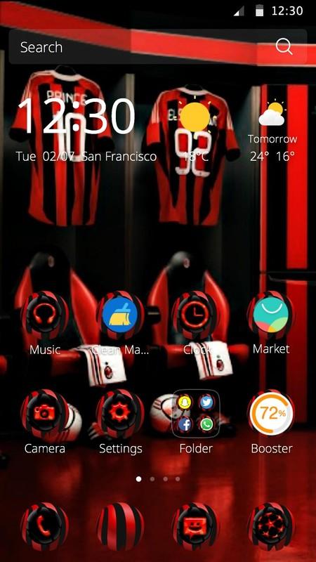 Ac milan theme free android theme download download the free ac ac milan theme voltagebd Images