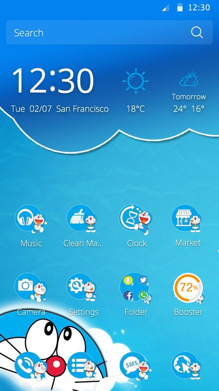 Doraemon Theme Free Android Theme download - Download the