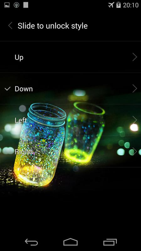 Fireflies lockscreen Free Android Theme download