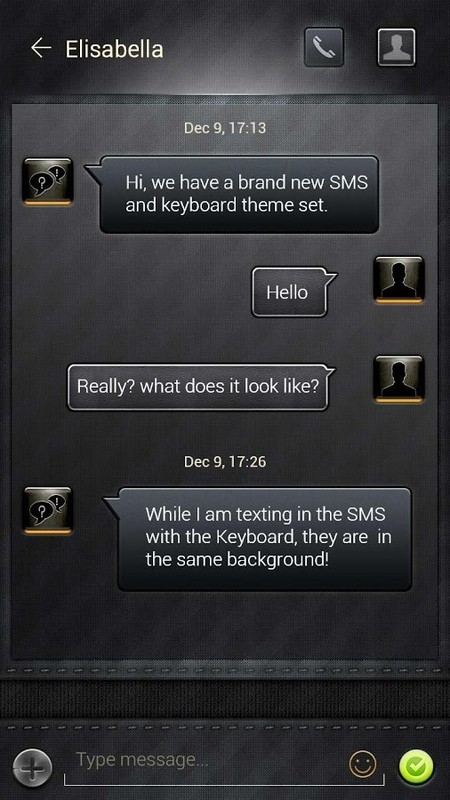 free go sms senior black theme free android theme download