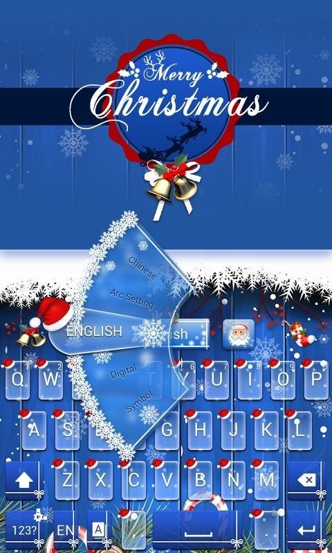 Merry Christmas Keyboard Theme Free Android Theme download