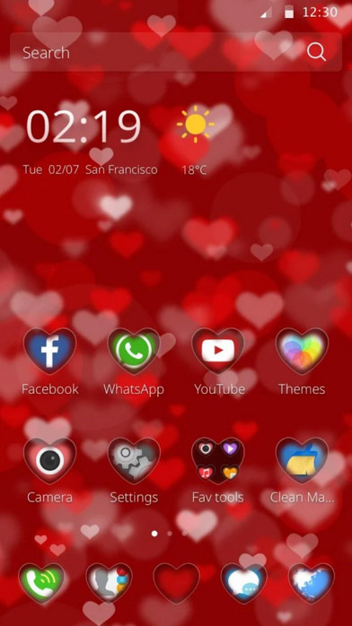 Hearts Theme Free Android Theme download - Download the Free
