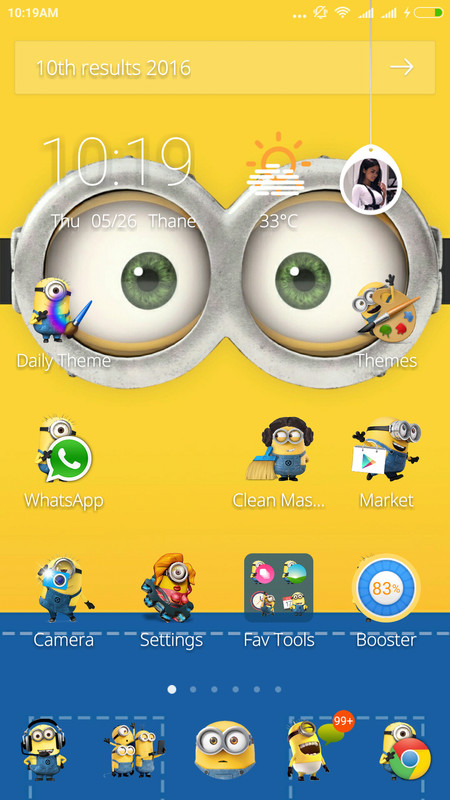 Cute minions theme free android theme download download the free cute minions theme voltagebd Images